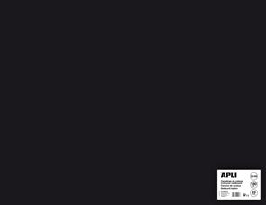APLI sada barevných papírů, A2+, 170 g, černý - 25 ks
