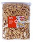APLI Velká sada - dřevěné kolíčky - 400 ks
