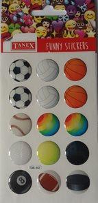 Plastické samolepky - Sport ( 15 ks )