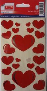 Samolepky - Srdce červené ( 66 ks )