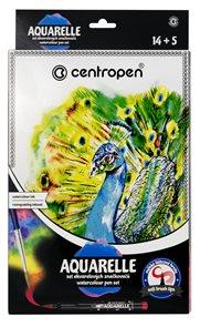 Centropen Akvarelový set 9383, 14 ks + 5 ks