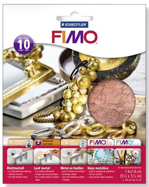 FIMO kovové plátky měděné, 10 ks