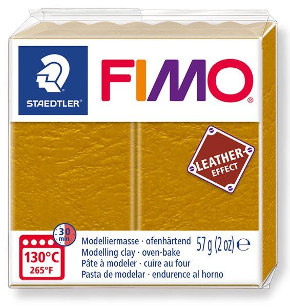 FIMO LEATHER efekt - okrová