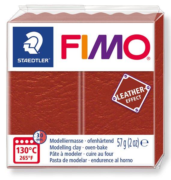 FIMO LEATHER efekt - rezavá