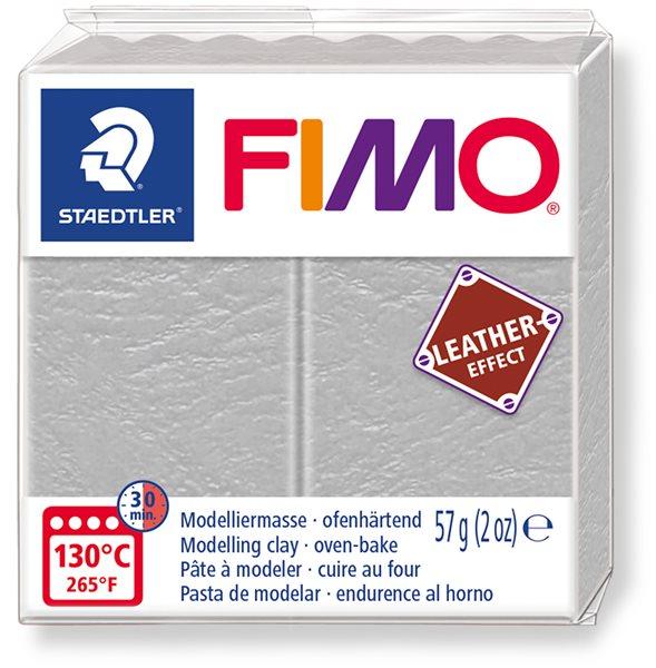 FIMO LEATHER efekt - holubí šedá