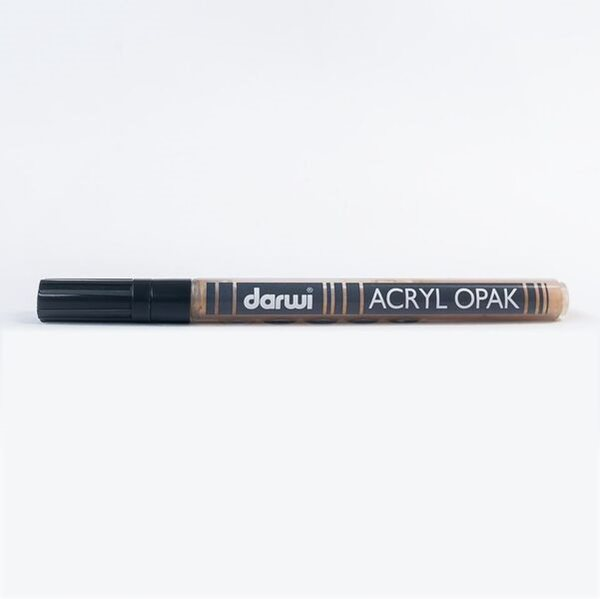 DARWI Akrylová fixa - tenká - 3ml/1mm - zlatá, Sleva 20%