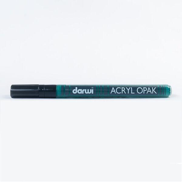 DARWI Akrylová fixa - tenká - 3ml/1mm - tmavě zelená, Sleva 20%