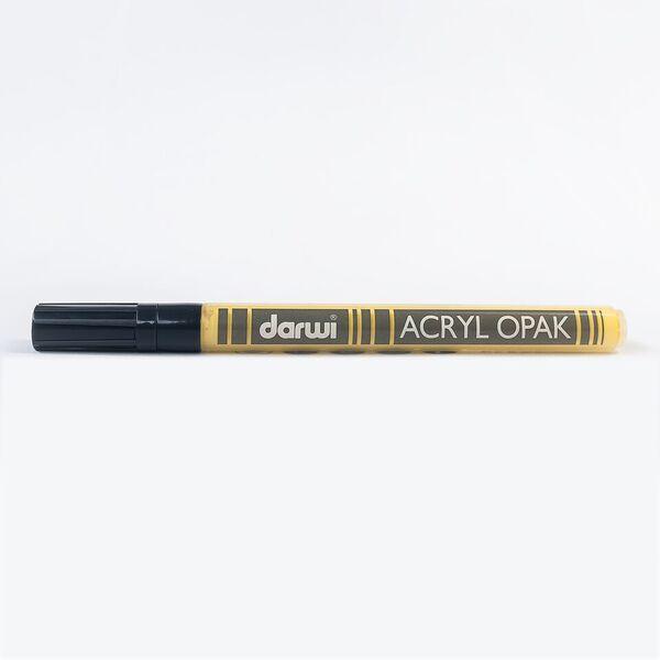 DARWI Akrylová fixa - tenká - 3ml/1mm - tmavě žlutá, Sleva 20%