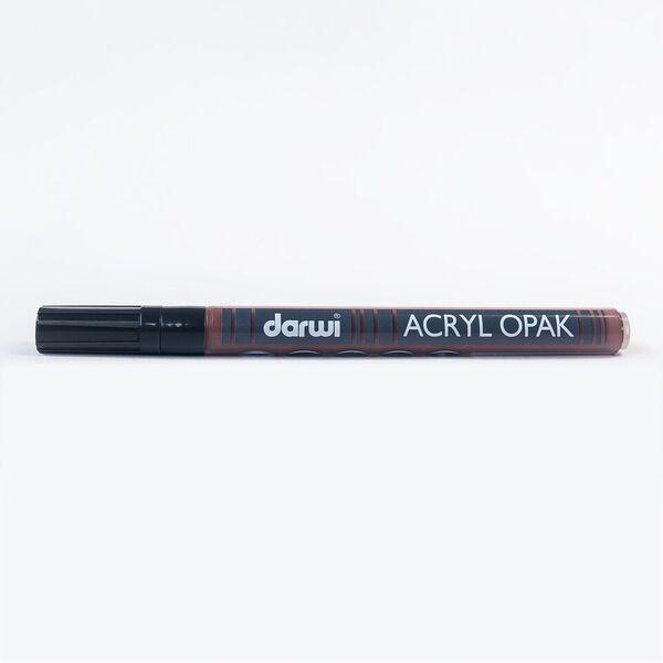 DARWI Akrylová fixa - tenká - 3ml/1mm - tmavě hnědá, Sleva 20%