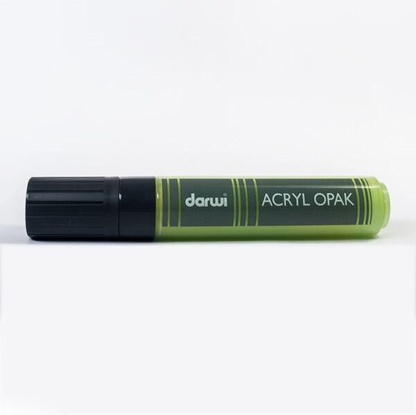 Akrylová fixa Darwi - MAXI - 25ml/15mm - permanentní zelená