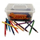 Pastelky Jovi dřevěné Maxi - trojhranné - 120 ks / 12 barev