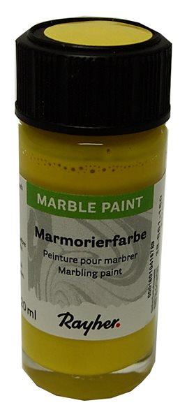 Mramorovací barva Rayher Marble Paint 20 ml - citronová