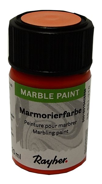 Mramorovací barva Rayher Marble Paint 20 ml - oranžová