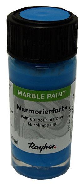 Mramorovací barva Rayher Marble Paint 20 ml - světle modrá