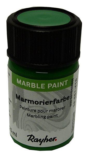 Mramorovací barva Rayher Marble Paint 20 ml - jablkově zelená