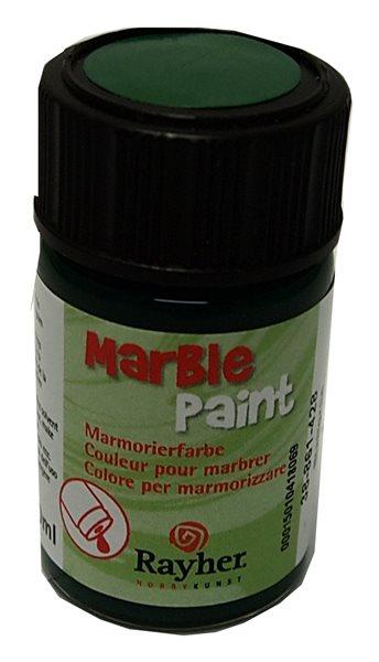 Mramorovací barva Rayher Marble Paint 20 ml - listově zelená
