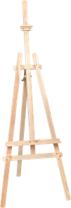 Malířský stojan AMI ze smrkového dřeva, nastavitelná výška