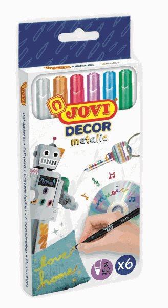 Fixy JOVIDECOR metalic 6ks - barevné