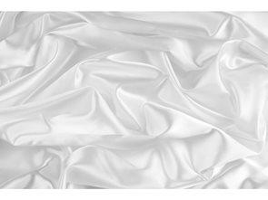 Hedvábný šátek 140 x 45cm - přírodní bílá
