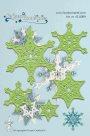 Vyřezávací kovová a embosovací šablona Leabilities - Sněhové vločky (5ks)