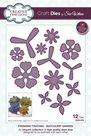 Vyřezávací a embosovací kovové šablony - Sukulentní zahrada (12ks)