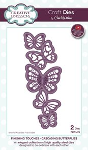 Vyřezávací a embosovací kovové šablony - Motýlí propojení (2ks)