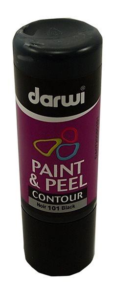 DARWI 3D slupovací barva na sklo, 80ml, kontura - černá