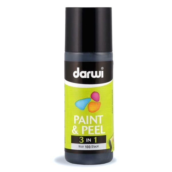 DARWI 3D slupovací barva na sklo, 80ml - černá