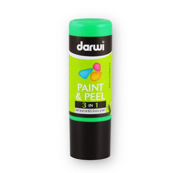 DARWI 3D slupovací barva na sklo, 80ml - zelená louka