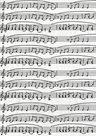 Papír na decoupage - bílý s notami