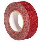 Samolepicí papírová washi páska Heyda - Perleťová červená