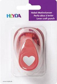 Ozdobná děrovačka na papír Heyda, 17 mm - Srdce