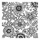 CERNIT polymerová textura - květy