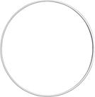 Drátěný kruh, průměr 15 cm - bílý