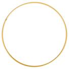 Kovový kruh, průměr 15 cm - zlatý