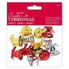 Docrafts Vánoční zvonečky - zlaté, stříbrné, červené (12ks)