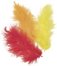 Dekorativní peříčka Marabu 4 g - červená, žlutá a oranžová