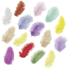 Dekorativní peříčka Marabu 4 g - mix pastelových barev