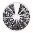 Nažehlovací kamínky Rayher Hotfix - křišťálové, 2-5 mm ( 580ks )