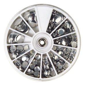 Nažehlovací nýty Rayher Hotfix - stříbrné, 3-10 mm ( 560ks )