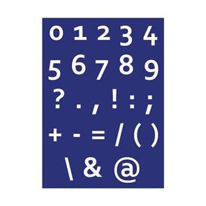 Šablona na sítotisk A4 - Číslice
