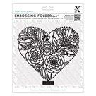Embosovací kapsa Xcut 15 x15 cm  - Květinové srdce