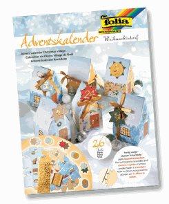 Adventní kalendář - 26 dílů - vánoční domečky