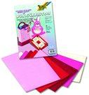 Barevný papír vytlačovaný 23×33 cm - motiv SRDCE, mix 10 listů v 5 barvách