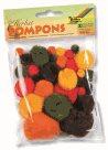 Bambulky - pompony - 30 ks - podzimní mix