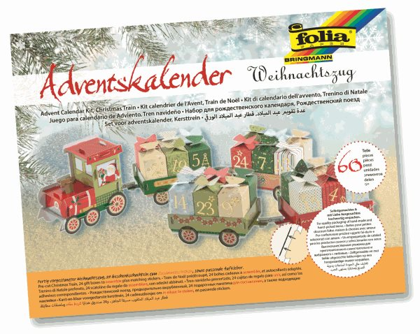 Adventní kalendář - 60 dílů - Vánoční vláček, Sleva 15%
