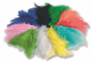 Barevná peříčka - 10 - 20 cm , mix barev - 100 g