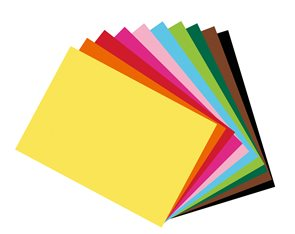 Barevné papíry A4 300 g - mix 10 barev 10 kusů /Fotokarton DIN A4 sort./
