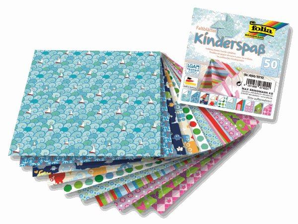 Origami papír Dětský - 80 g/m2 - 10 x 10 cm