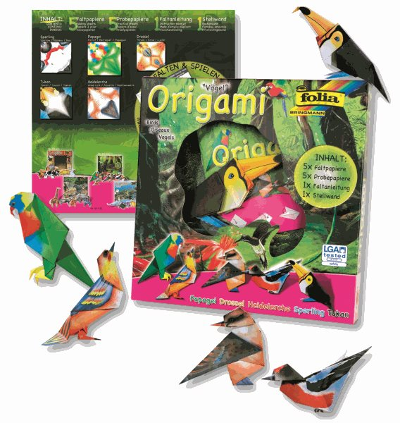 Origami - sada na výrobu ptáků